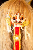 Barong dance mask of lion,  Bali, Indonesia Royalty Free Stock Photos