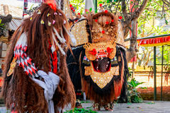 Barong Dance show, the traditional Balinese performance Royalty Free Stock Photos