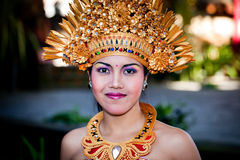 Barong Dancer Portrait. Bali, Indonesia Royalty Free Stock Photography