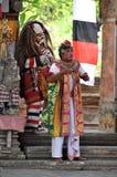 Barong dans på Bali arkivfoton