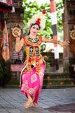 Barong dansare. Bali Indonesien Arkivbilder