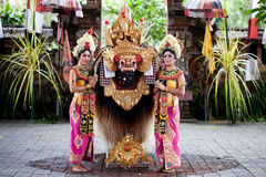 Barong dansare Bali Indonesien Fotografering för Bildbyråer