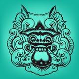 Barong de las ilustraciones del Balinese Imágenes de archivo libres de regalías