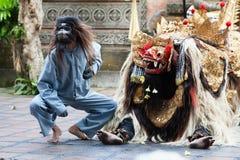 Barong e Kris Dance eseguono, Bali, Indonesia Fotografie Stock
