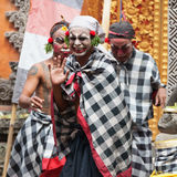 Barong e Kris Dance eseguono, Bali, Indonesia Fotografia Stock