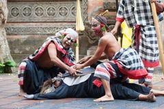 Barong e Kris Dance eseguono, Bali, Indonesia Fotografia Stock Libera da Diritti