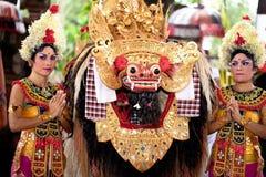 Barong: een karakter in de mythologie van Bali stock foto's