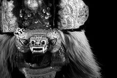 Barong, een schepsel in mythologie van Bali, Indonesië stock foto's