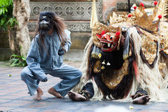 Barong and Kris Dance perform, Bali, Indonesia Stock Photos