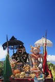 Barong Landung - traditional Balinese protective spirits. Stock Photos
