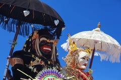 Barong Landung - traditionele Balinese beschermende geesten Stock Fotografie