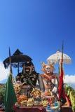 Barong Landung - traditionele Balinese beschermende geesten Stock Foto's