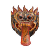 Barong mask 3. A wooden barong mask from Tegallallang in Bali, Indonesia, on a white background Stock Images