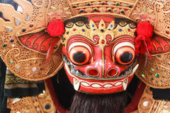 Barong Mask, Signature of Balinese Culture. This is Barong Mask, Signature of Balinese Culture. The mask looks like a lion creature. He is the king of the Stock Images