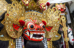 Barong Mask. Traditional Barong mask in Bali Indonesia Used in Dance Performance royalty free stock images