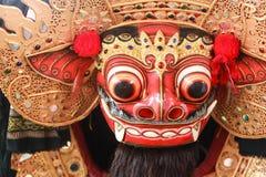 Barong maskering, häfte av Balinesekultur arkivbilder