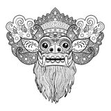 Barong Masque rituel traditionnel de Balinese Illustr d'ensemble de vecteur Illustration Stock
