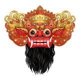 Barong Masque rituel traditionnel de Balinese Illustrat de couleur de vecteur Image libre de droits