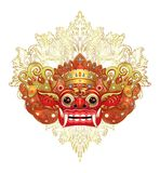 Barong Masque rituel traditionnel de Balinese Illustrat de couleur de vecteur Photo stock