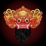 Barong Masque rituel traditionnel de Balinese Illustrat de couleur de vecteur Photographie stock