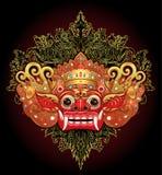 Barong Masque rituel traditionnel de Balinese Illustrat de couleur de vecteur Illustration Libre de Droits