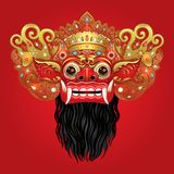 Barong Masque rituel traditionnel de Balinese Illustrat de couleur de vecteur Photographie stock libre de droits