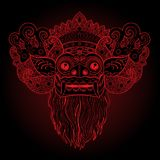 Barong Masque rituel traditionnel de Balinese Illustrat de couleur de vecteur illustration stock