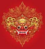 Barong Masque rituel traditionnel de Balinese Illustrat de couleur de vecteur illustration de vecteur