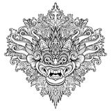 Barong Masque rituel traditionnel de Balinese Orna décoratif de vecteur Photographie stock
