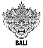 Barong Masque rituel traditionnel de Balinese Orna décoratif de vecteur Images stock