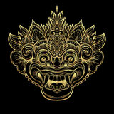 Barong Masque rituel traditionnel de Balinese Orna décoratif de vecteur Photographie stock libre de droits