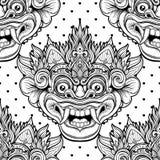 Barong Masque rituel traditionnel de Balinese Orna décoratif de vecteur Illustration de Vecteur