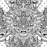 Barong Masque rituel traditionnel de Balinese Orna décoratif de vecteur Photos stock