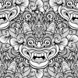 Barong Masque rituel traditionnel de Balinese Orna décoratif de vecteur Image libre de droits
