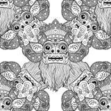 Barong Masque rituel traditionnel de Balinese Orna décoratif de vecteur Photos libres de droits