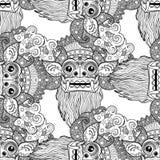 Barong Masque rituel traditionnel de Balinese Orna décoratif de vecteur Photo stock