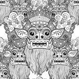 Barong Masque rituel traditionnel de Balinese Orna décoratif de vecteur illustration stock
