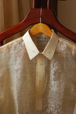 Barong Tagalog on hanger Stock Images