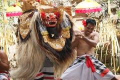 Barong tana przedstawienie, Bali Zdjęcie Royalty Free