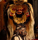 Barong-Tanz, Lion Dance lizenzfreie stockbilder