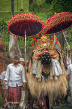Barong and villager at Tampak Siring, Bali, Indonesia Royalty Free Stock Photography