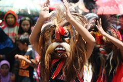 Barongan festival. BLORA, INDONESIA - November 1, 2014: archipelago barongan festival held royally by presenting various types barongan of various ethnicities stock photo