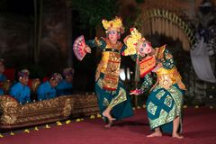 Barongdans in Bali stock foto's