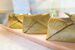 Barongko, cake in banana leaf Royalty Free Stock Images