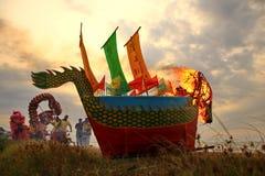 Barongsai and Dragon boat burning.