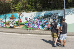 Baronissi, Ιταλία, στις 28 Ιουλίου του 2016 Μαρμελάδα Overline, οι ενάρξεις Στοκ εικόνα με δικαίωμα ελεύθερης χρήσης