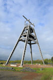 Barony A Frame. The Barony  A  Frame Monument is a vast steel structure , originally part of the winding gear at a shaft of the former Barony colliery , has been Stock Images