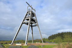 Barony A Frame. The Barony  A  Frame Monument is a vast steel structure , originally part of the winding gear at a shaft of the former Barony colliery , has been Stock Photography