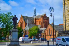 Barony Hall oder Barony-Kirche in Glasgow, Schottland, vereinigter König stockbild