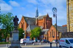 Barony Zaal of Barony Kerk in Glasgow, Schotland, Verenigde Koning stock afbeelding